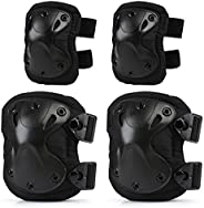 LIHAO Knee Pads Protector Adjustable Elbow Pads for Adults Children Cycling Ice Skating Mountain Climbing CS E