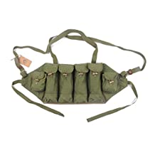 Cool Shiny Chinese Military Surplus SKS Type 81 AK Chest Rig Bandolier Ammo Pouch 6 Pocket Chest Pouch Rig