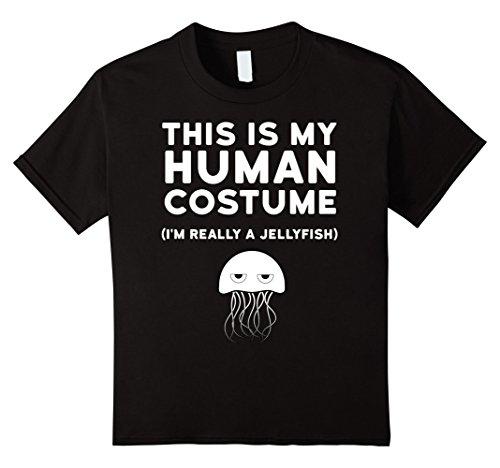 Kids Jellyfish Costume (Kids This is My Human Costume I'm Really a Jellyfish Shirt 10 Black)