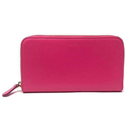 Bally Women's Morissa Leather Long Wallet in Raspberry (Pink) Blush