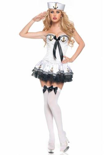 Halloween White Paris Sailor Costume ()