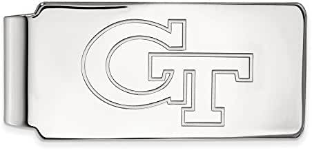 14k White Gold LogoArt Official Licensed Collegiate Georgia Institute of Technology (GT) Money Clip