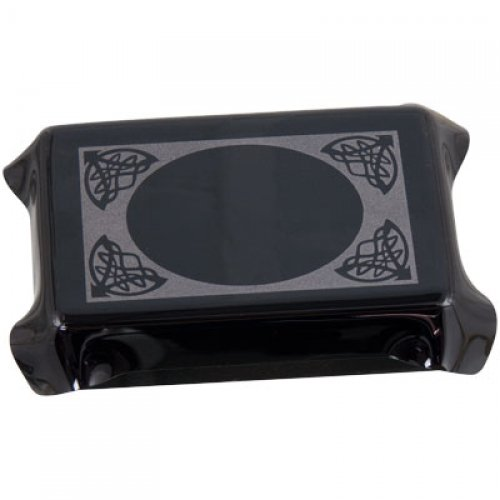 Glass Tarot Box Scrying Mirror Black Opaque