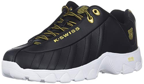 K-Swiss Women's ST329 CMF Sneaker, Black/Gold, 8 M US
