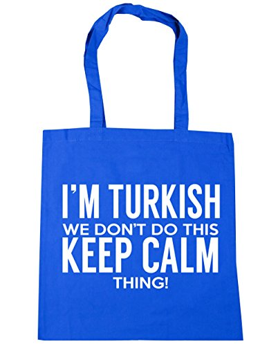HippoWarehouse I 'm turco que no hacer esto lo Keep Calm bolsa de la compra bolsa de playa 42cm x38cm, 10litros Azul Aciano