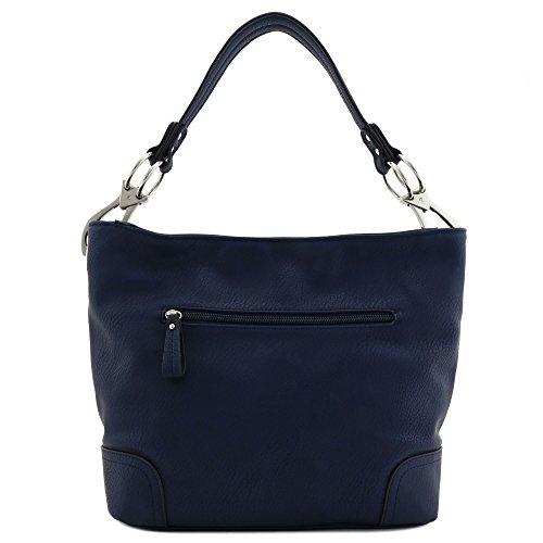 Hook Shoulder Bag Big with Hobo Snap Navy Hardware xXq41xn8R