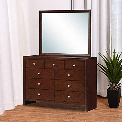 buy online cb8e5 8b117 Amazon.com: KCHEX>>>9 Drawers Dresser Mirror Set Chest ...