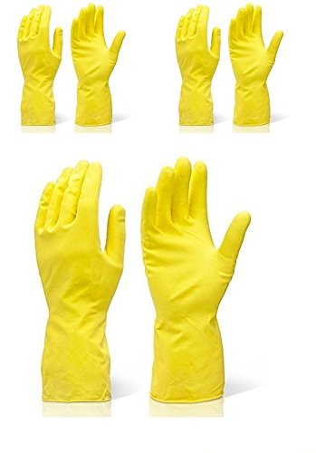 Safeyura Good Quality Kitchen Cleaning Gloves For Women Large Size Color Yellow 3 Pairs Amazon In Home Improvement