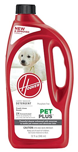 - Hoover PetPlus Pet Stain & Odor Remover Solution Formula, 32 oz, AH30325NF