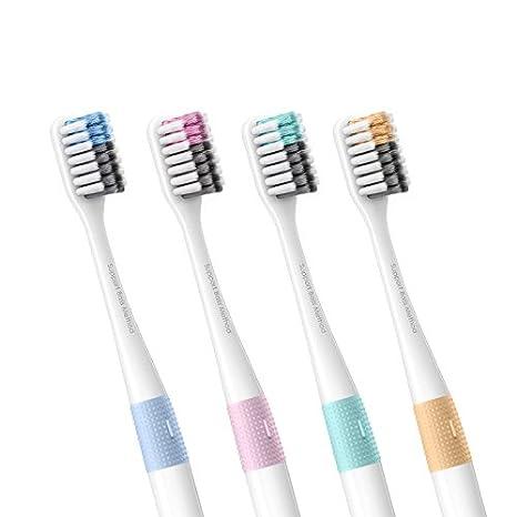 Xiaomi 4Pcs / Set cepillo de dientes suave mango manual ecológico cepillo de dientes con caja de viaje: Amazon.es: Hogar