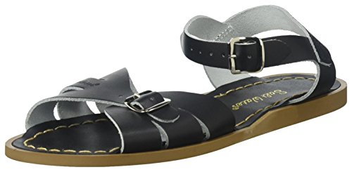 Girls Flat Classic (Salt Water Sandals by Hoy Shoe Girls' Salt Water Classic Flat Sandal, Black, 4 W6 M US Big Kid)