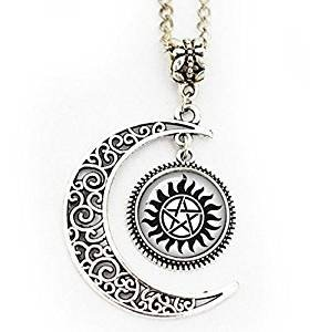 Amazoncom Supernatural Sam And Dean Winchester Full Moon Necklace