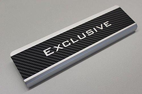 AluNox-CARBON Einstiegsleisten mit Abkantung T/ürschweller Exclusive