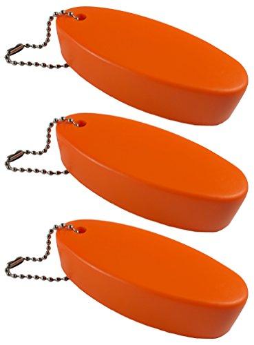 CalTokyo Premium Foam Floater Key Chain Set of 3 (Orange)