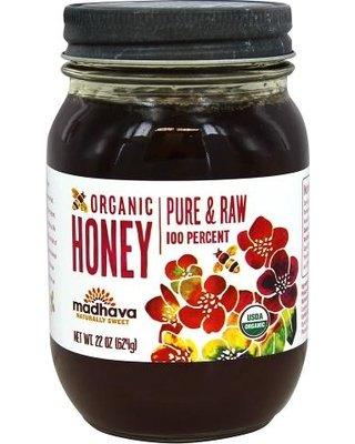 Madhava Organic Pure & Raw Honey 22 oz (Pack of 2)