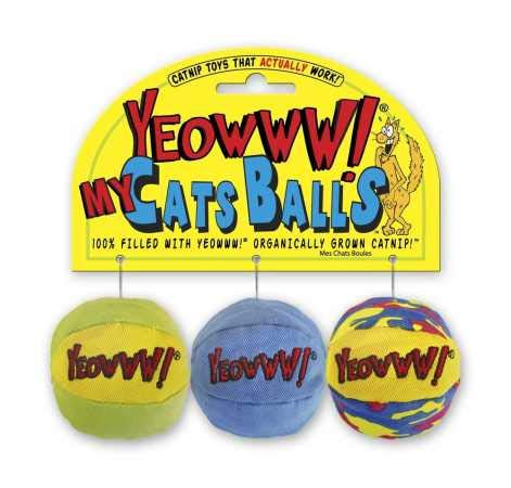 Yeowww! My Cats Balls, 3-Pack