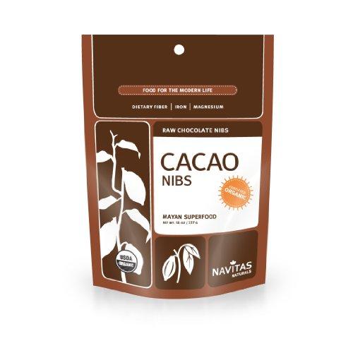 Navitas Naturals organiques Cacao Nibs premières, pochettes de 16 onces (pack de 2)