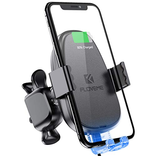 Automatic Clamping Wireless Car Charger Mount FLOVEME Touch Sensitive 10W Fast Charge Wireless Car Charger Air Vent Dashboard Compatible for iPhone Xs Max XR X Samsung S10 S8 S9 Note 9 Google Pixel 3