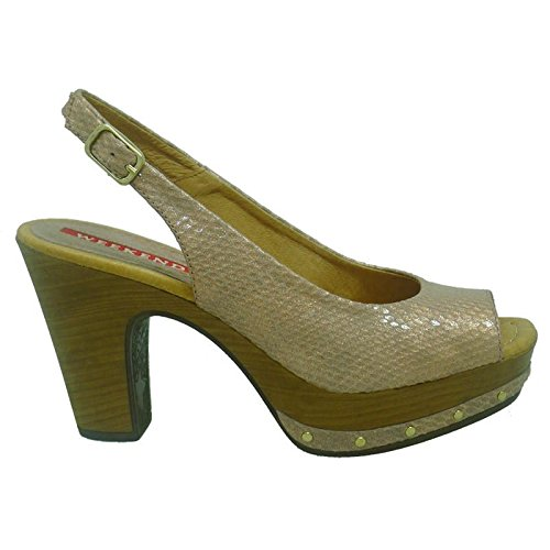 super popular 4a2ae 9044c WEEKEND Zapatos Mujer Salones Peep_Toes 17471 Oro Rosa 39 ...