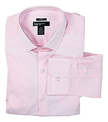 Bar III Men's Slim-Fit Stretch and Easy Care Dress Shirt
