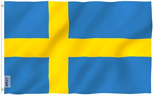 Anley Fly Breeze 3x5 Foot Sweden Flag - Vivid Color and UV F