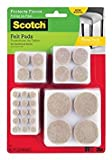 Scotch Felt Pads Value Pack Beige, 162-Pads of Various Sizes, 4-Pack Style: 648 various pads, Model: SP845-4 (Tools & Outdoor gear supplies)