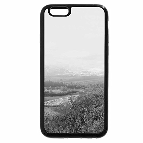 iPhone 6S Case, iPhone 6 Case (Black & White) - Hazy Day River