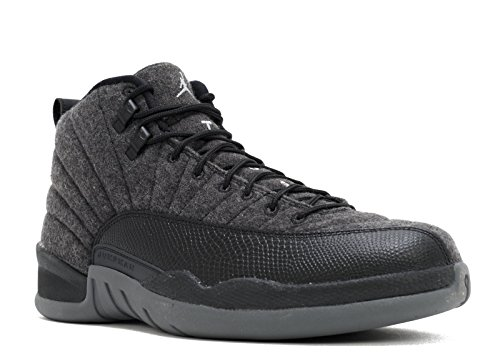 Jordan 12 Retro Wool Mens Dark Grey, Metallic Silver