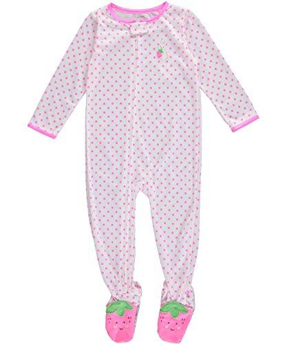 - Carter's Baby Girls' Print Footie (Baby) - Strawberry Feet - 24 Months