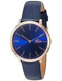 Lacoste Women's Quartz Gold and Leather Automatic Watch, Color: Blue (Model: 2000950)
