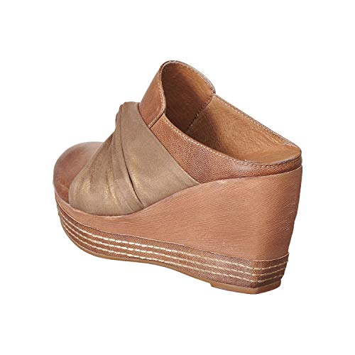Mule Leather Taupe 958 Women's Hi Gathered Antelope wXnzxqBP7x