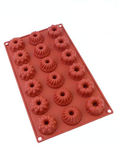 Oggibox 18-Cavity Silicone Mini Fancy Bundt, Tea Cake, Chocolate, Candy and Gummy Mold