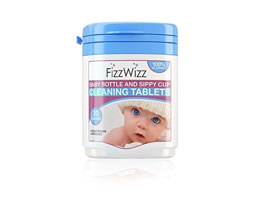 Fizzwizz Baby Bottle & Sippy Cup Cleaning Tablets 30ct/on the go/all-natural Crystal Clear Laboratories FWT00l-30
