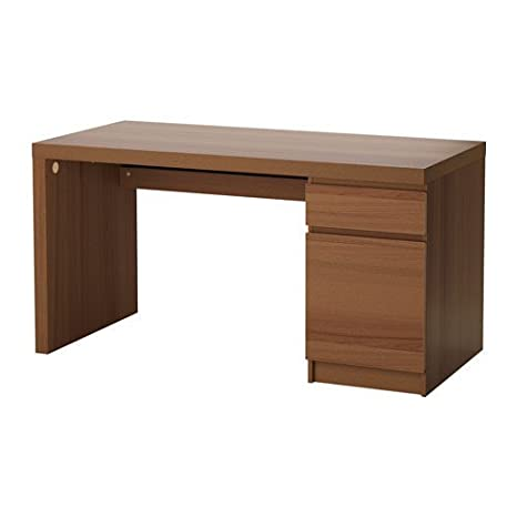 wholesale dealer cc769 e8dbb IKEA Malm Home Office Desk, Black Floor Protectors (Brown Stained ash  Veneer) 002.141.57