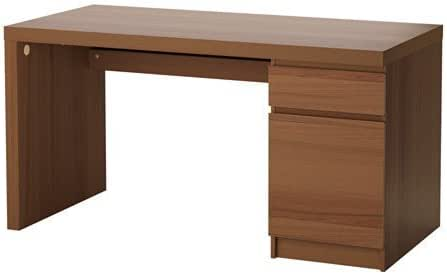 Amazon.com: IKEA Malm Home Office Desk, Black Floor