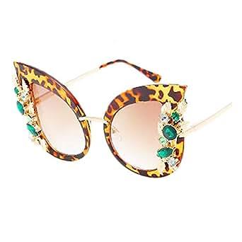 ZCFX, Gafas de sol de mujer, Montura de diamantes, Ojos de ...