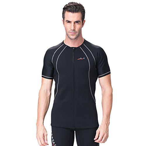 Allywit Men 1.5MM Neoprene Thermal Winter Diving Wetsuit Winter Swimming One Piece Surfing Black by Allywit (Image #1)
