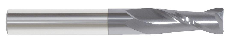 Right Hand Spiral 2 Flute Single 2-1//2 Center Cutting 3//8 Shank Diameter Carbide End Mill