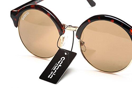Catania Occhiali Sunglasses - New Season Collection - Mens / Womens Sunglasses - Semi Rimless Vintage Round - Season Sunglasses New