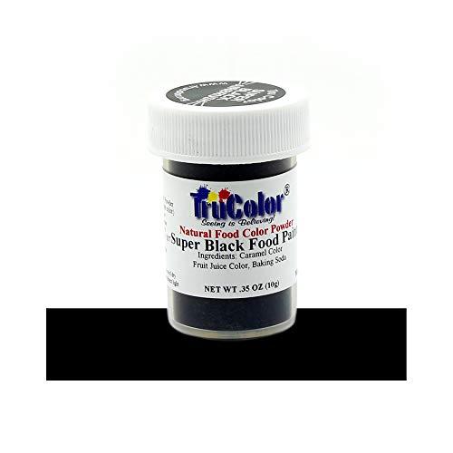 TruColor Super Black Airbrush Natural Food-Coloring Powder Paint, 10 Grams
