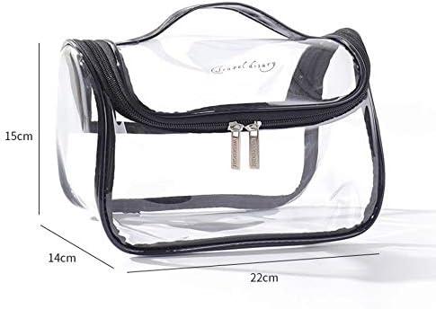 ZHBH ファッション透明レーザートラベルメイクアップバッグ女性のハンドバッグジッパーウォッシュ主催ストレージ美容防水化粧ケースメイクアップ (色 : 3)