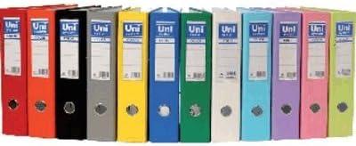 Unisystem 092489 - Archivador de palanca, A4, lomo 70 mm, color negro: Amazon.es: Oficina y papelería