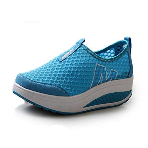 JRenok Deportivas Sandalias de Azul Sintético Material Mujer xHH0rwZqn
