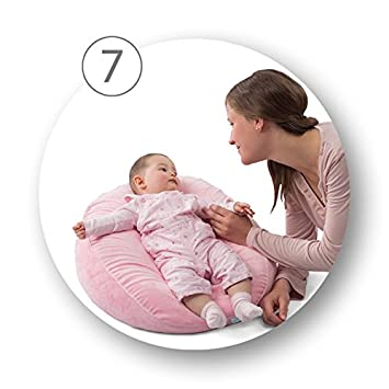 12 in 1 Full Body Pregnancy Pillow /& Maternity Pillow with Extra Back Support Made in Italy 100/% Cotton Washable Case Breastfeeding and Nursing Pillow Nuvita 7100 DreamWizard