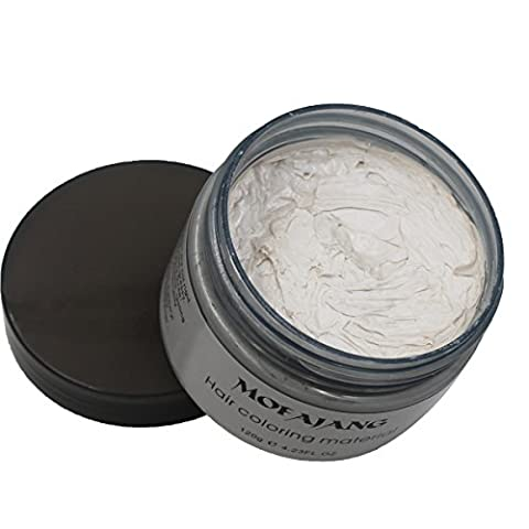 VOLLUCK White Hair Wax Pomades 4.23 oz - Disposable Natural Hair Styling Clays Ash, Easy Cleansing - Black White Hair Pomade