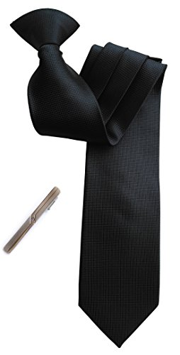 (Simpowe Men's Clip On Tie 2.75