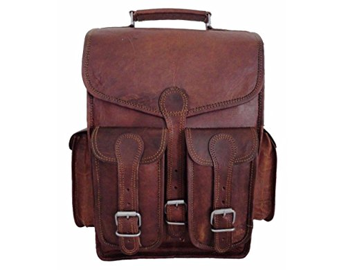 pranjals house Brown Leather Backpack for Men/ Vintage Handmade Leather/ vintage Backpack purse leather  Shoulder Bag /Brown backpack purse