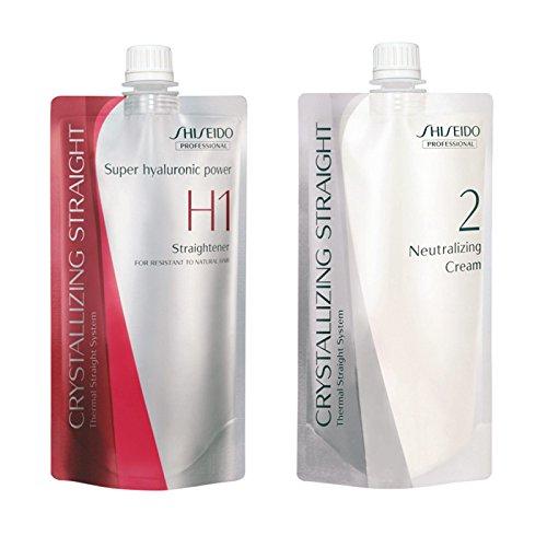 Shiseido, Lisseur H1400ml et crème de soin neutralisante 400ml, pour cheveux rebelles à naturels