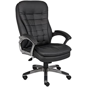 Exceptionnel Boss Office Products B9331 High Back Executive Chair With Pewter Finsh In  Black
