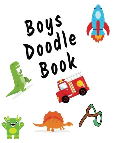 """Boys Doodle Book: Blank Journals To Write In, Doodle In, Draw In Or Sketch In, 8"""" X 10"""", 150 Unlined Blank Pages (Blank Notebook & Diary)"""